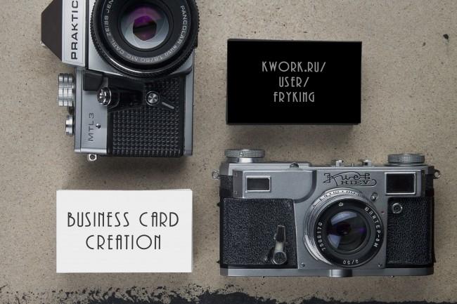 Business cards design creation 2 - kwork.com
