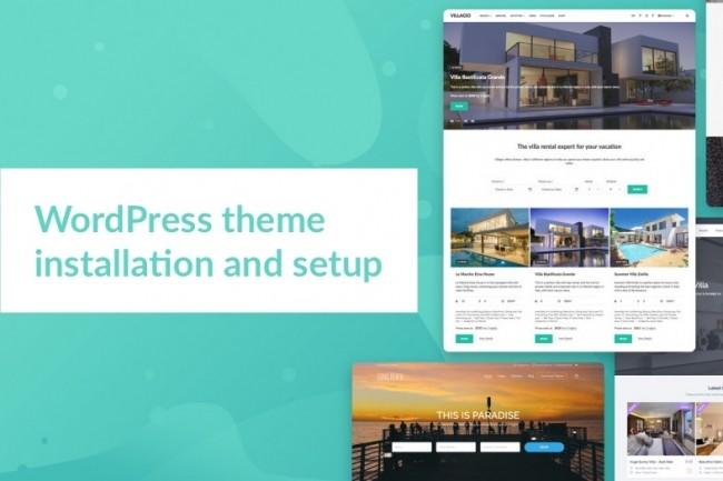 WordPress theme installation 1 - kwork.com