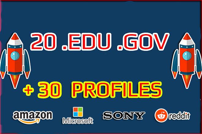 20 backlinks from EDU . GOV domains +30 from HQ profiles 1 - kwork.com