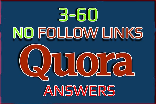 Quora Answers backlinks. No Follow links 3-60 pieces. Crowd links 1 - kwork.com