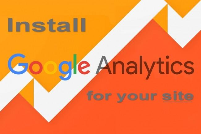 Install Google Analytics on your site 1 - kwork.com