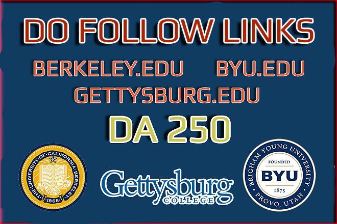 Guest Posts from top EDU Domains - Berkeley, Gettysburg, Byu 1 - kwork.com