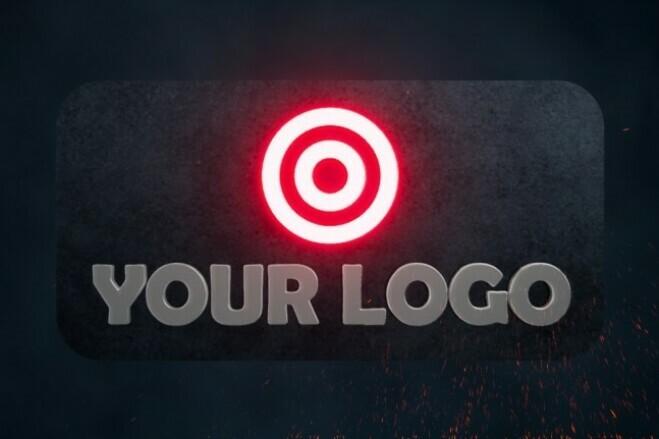 Animated intro with your metallic logo 2 - kwork.com