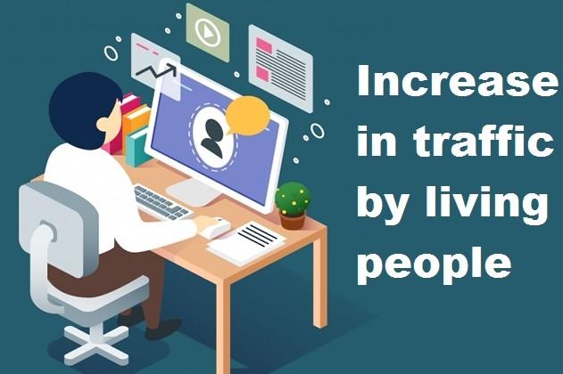 Increase in traffic by living people 1 - kwork.com