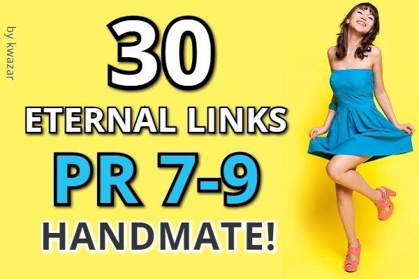 30 eternal links with PR 7-9 output in the top Google, handmade, bonus 1 - kwork.com