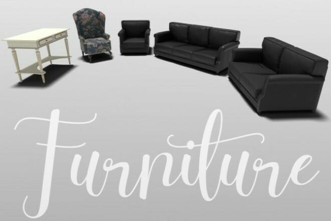 3D modeling of furniture 1 - kwork.com