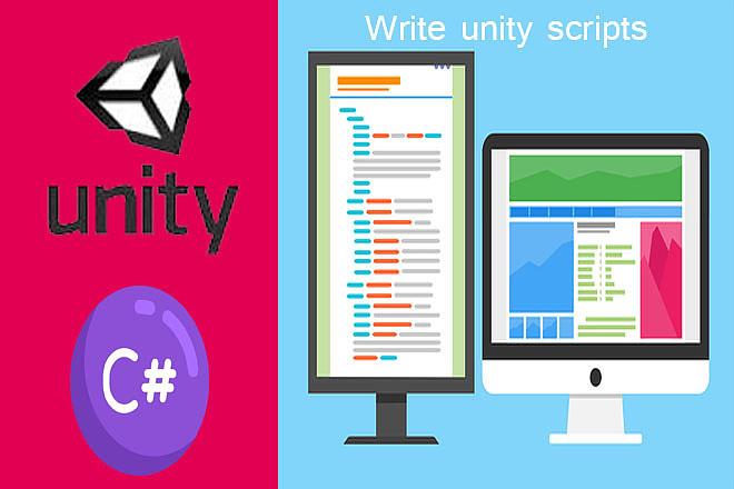Write Unity Scripts with C# 1 - kwork.com
