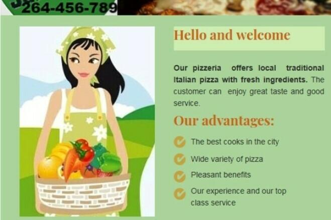 HTML email marketing - design, html code 1 - kwork.com