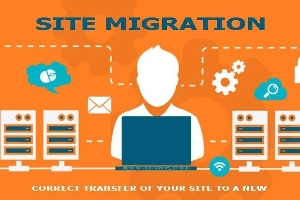 Site Migration. Transfer of a site on a hosting 1 - kwork.com