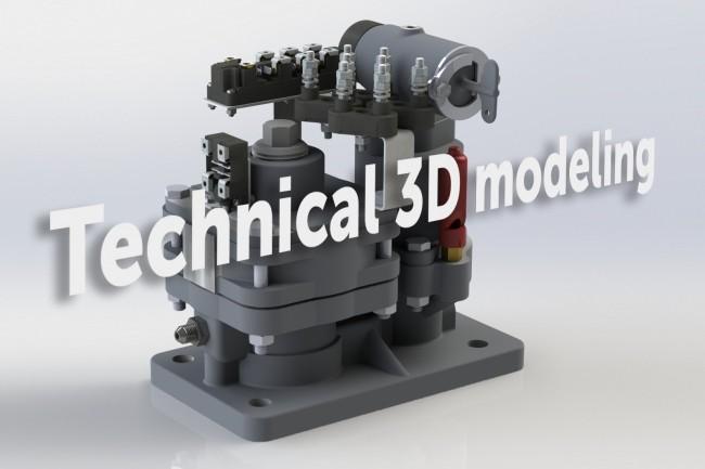 3D technical modelling 9 - kwork.com