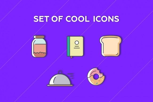I'll draw five icons 1 - kwork.com