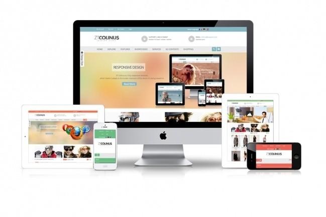 I build a site or a lending on PSD 1 - kwork.com