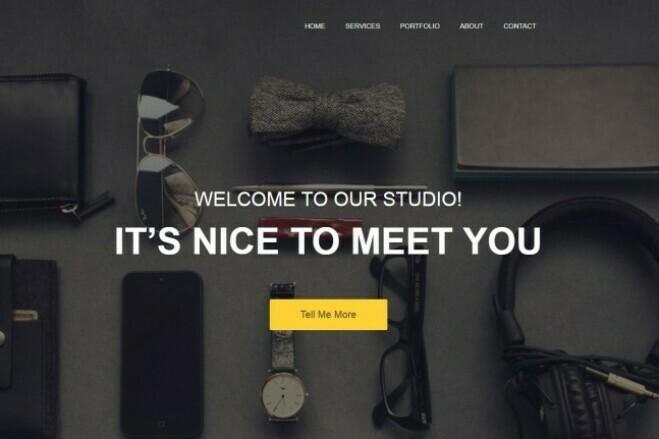 Design Site, Landing page 1 - kwork.com