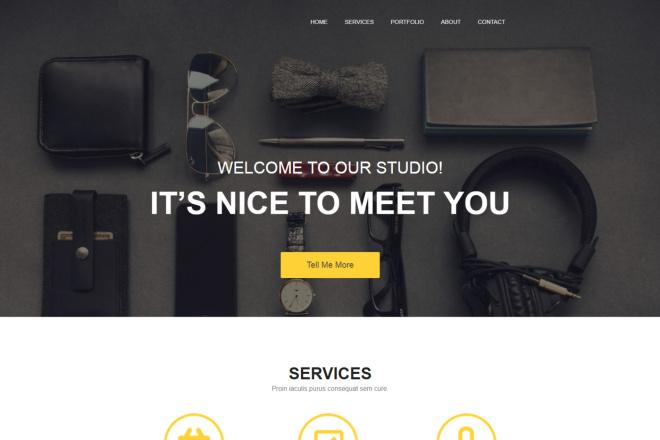Design Site, Landing page 3 - kwork.com