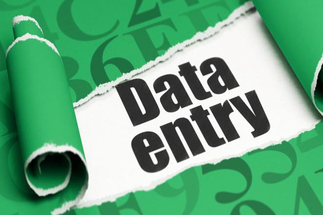 I will do data entry jobs 1 - kwork.com
