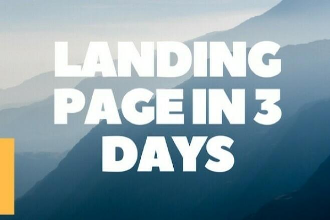 Landing Page in 3 days 1 - kwork.com