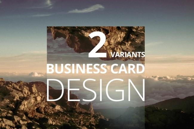 I'll make a business card design 4 - kwork.com