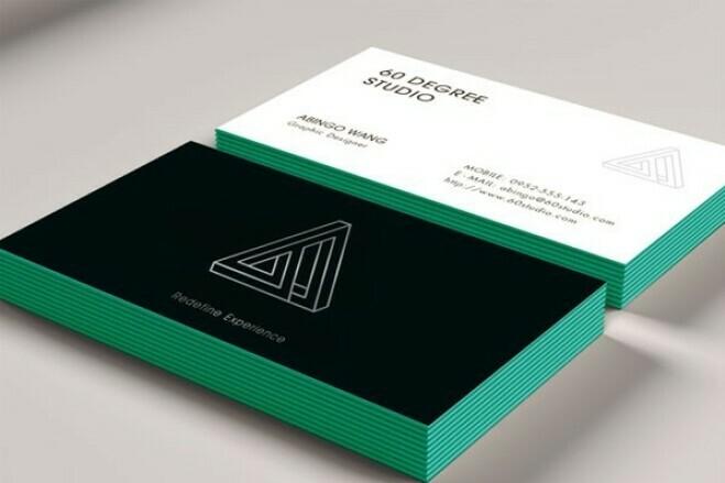 I'll make a business card design 2 - kwork.com