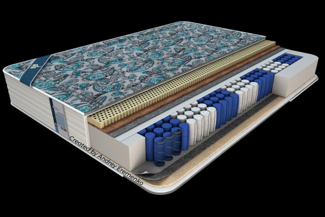 Beauty realistic 3d mattress model 1 - kwork.com