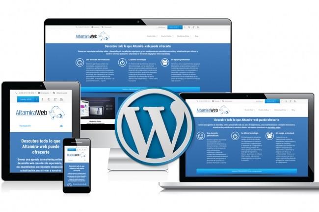 Creating beautiful sites on CMS Wordpress 1 - kwork.com