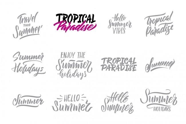 2 lettering logotypes 1 - kwork.com