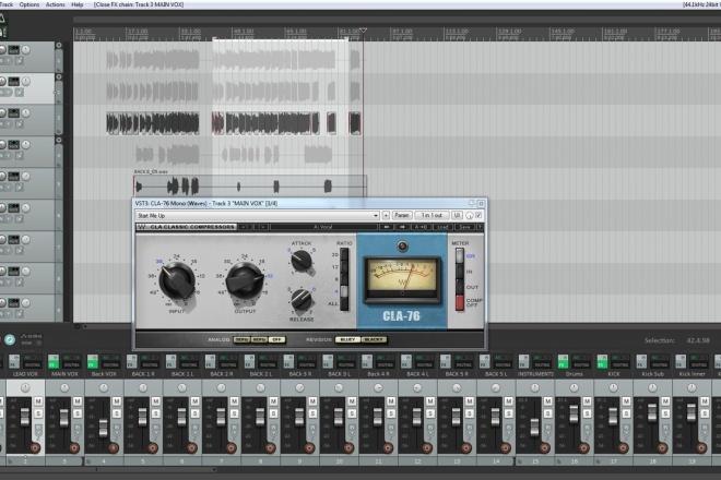 Mixing vocals to mastered instrumentals 2 - kwork.com