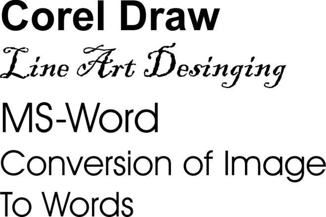 Corel Draw Line Art 1 - kwork.com