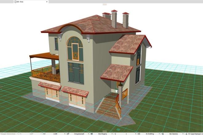 3D design in Archicad 2 - kwork.com