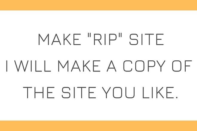 RIP site. I will make a copy of the site you like 18 - kwork.com