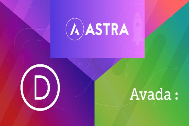 Create wordpress website using astra pro, divi n avada theme 4 - kwork.com