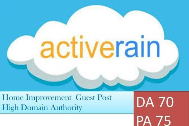 Guest Post on a High DA Active Rain Home Blog DA 70 PA 75 1 - kwork.com