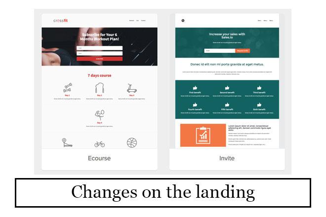 I will make changes on the landing. Html, css, js 10 - kwork.com