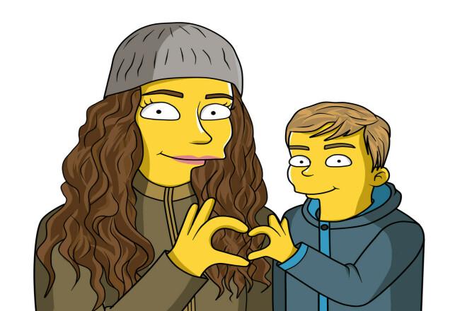 Simpsons portrait 1 - kwork.com