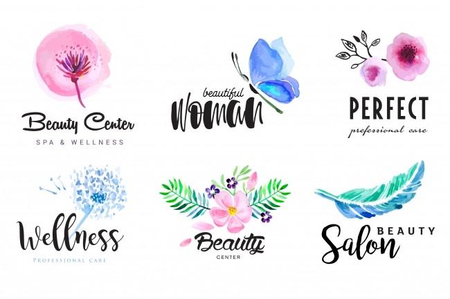 I Will Design Beautiful Hand Drawn Watercolor Logotype 7 - kwork.com