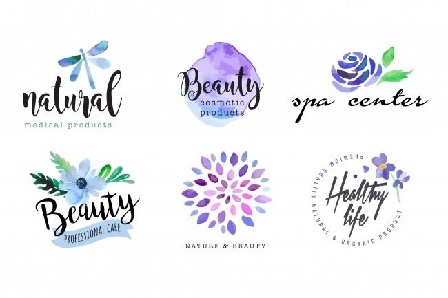 I Will Design Beautiful Hand Drawn Watercolor Logotype 2 - kwork.com