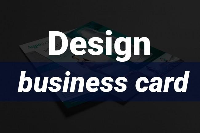 Design of business cards 1 - kwork.com