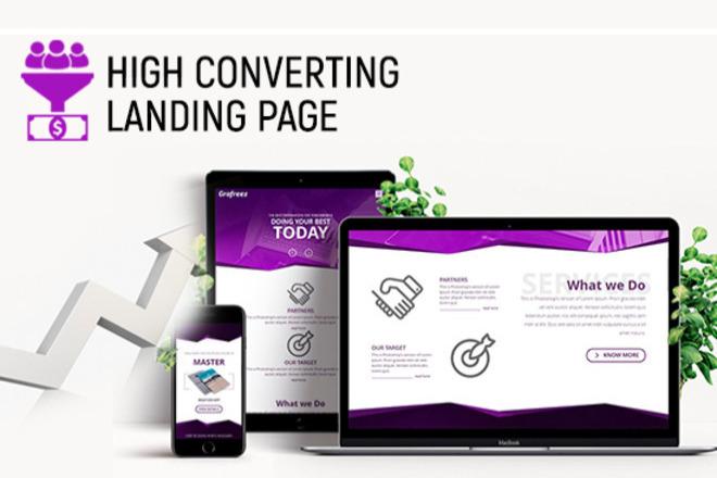 Create high converting Design landing page 4 - kwork.com