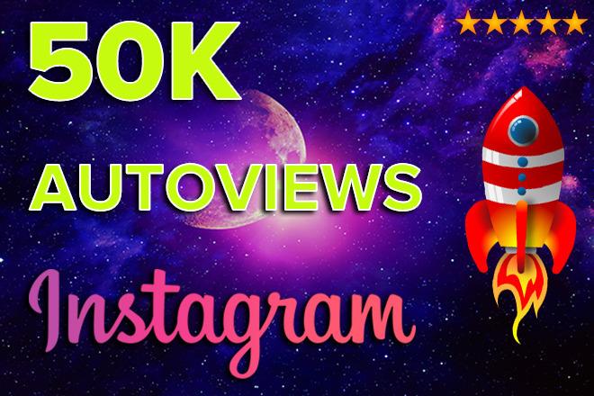 50K AutoViews on Instagram video 1 - kwork.com