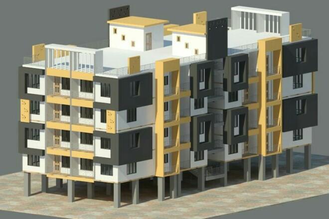 I will Draft, Design, Model, Render buildings 1 - kwork.com