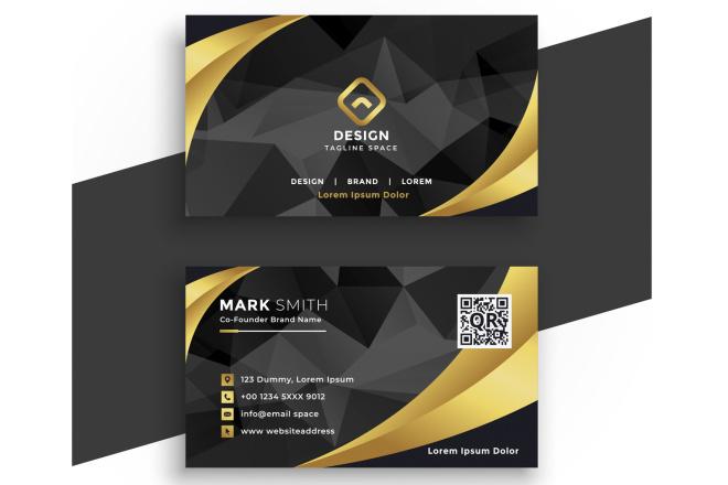 I will do elegant business card design 1 - kwork.com