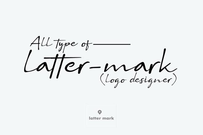 Latter-mark logo design 1 - kwork.com