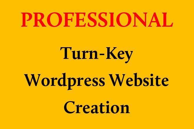 Professional Turn-Key Wordpress Website Creation 1 - kwork.com