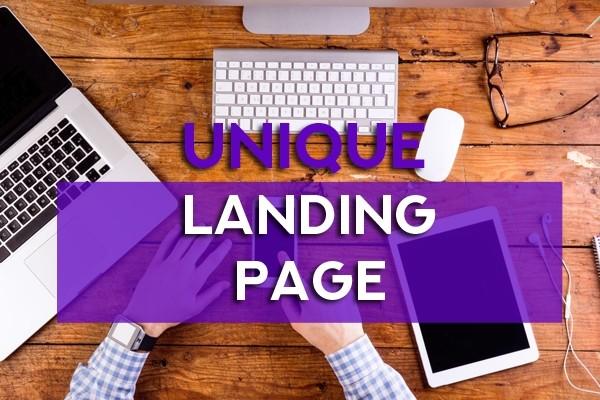 Unique landing page 9 - kwork.com