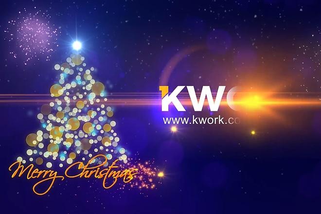I will Make Merry Christmas Logo Animation Video in Full HD 1 - kwork.com