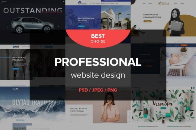 Professional and modern design or redesign of your website 7 - kwork.com