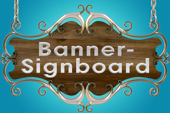 Banner design in form wooden plate for Facebook promotional post 1 - kwork.com