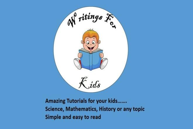 I will do writings for kids 1 - kwork.com