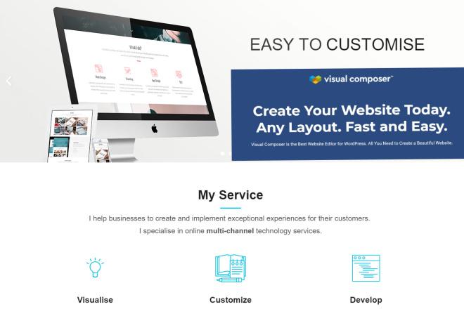 I Will design wordpress website using visual composer 4 - kwork.com