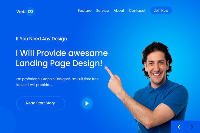 I will design a high conversation web landing page 7 - kwork.com