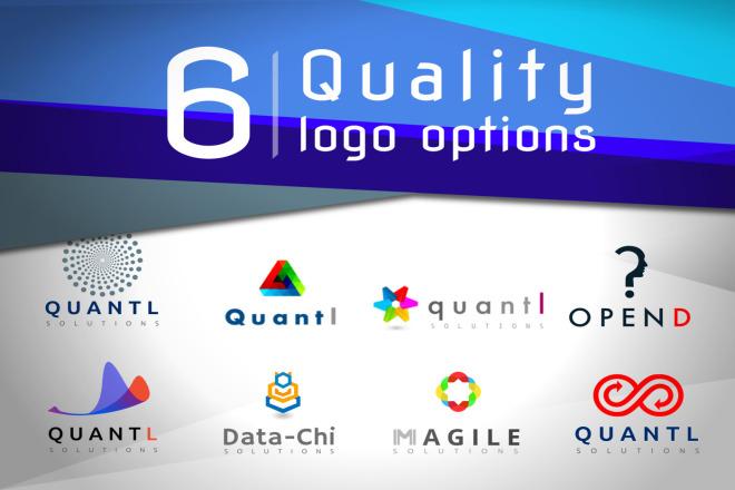 I will design 3-6 quality logo options 1 - kwork.com